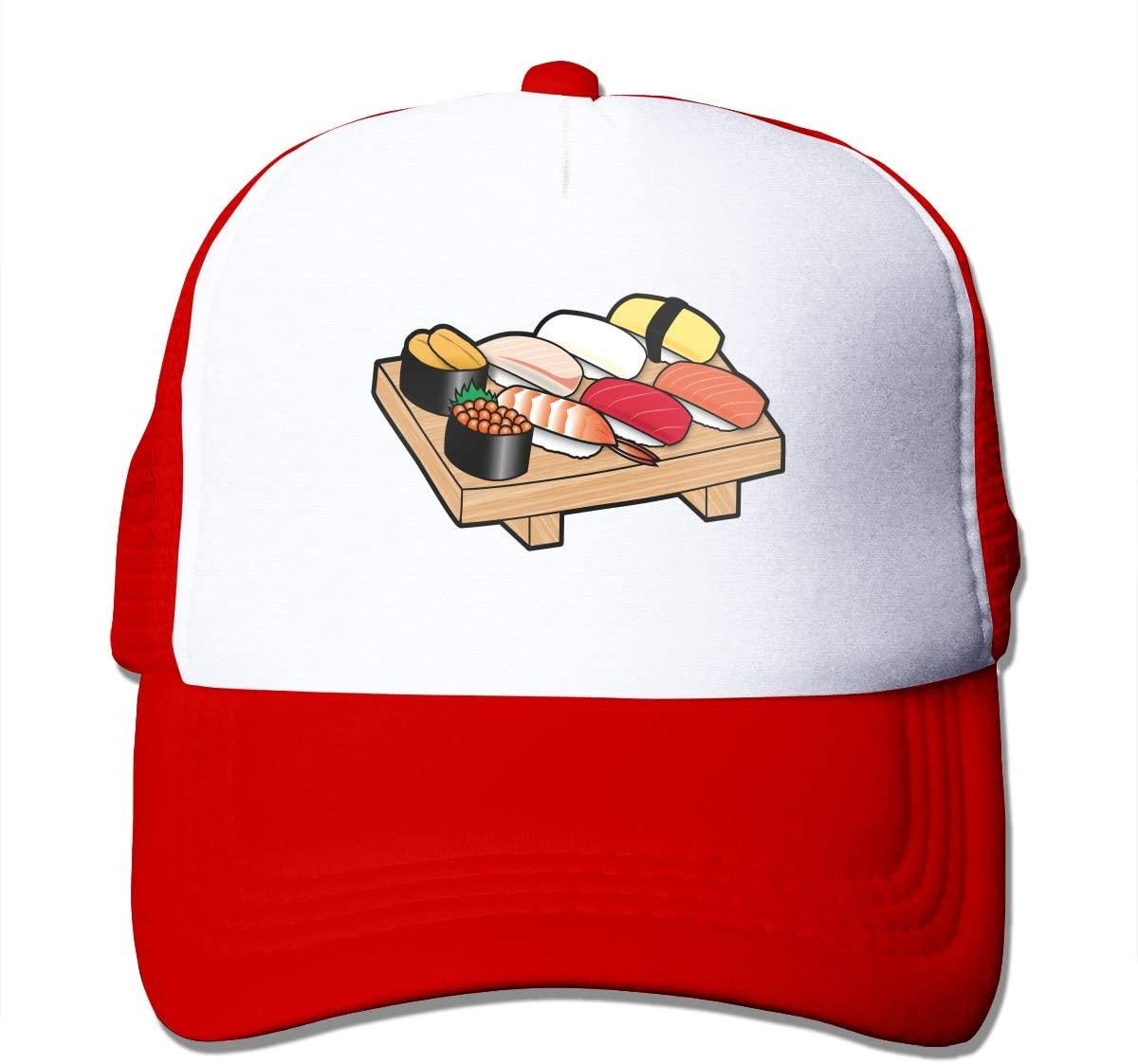 Adult Trucker Hat Sushi Pattern Custom Mesh Caps