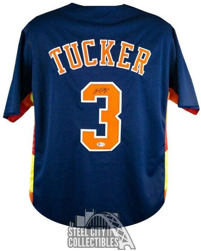 Signed Kyle Tucker Jersey - Custom Blue BAS COA - Beckett Authentication - Autographed MLB Jerseys