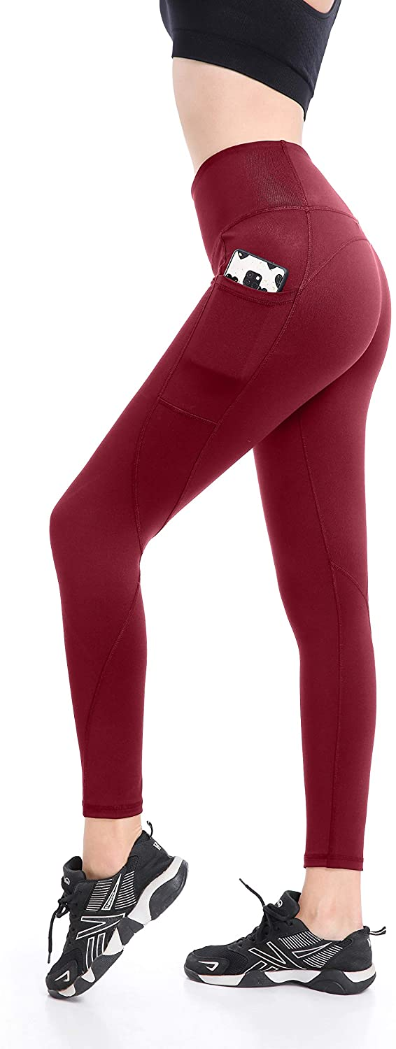 EAST HONG Women's Yoga Leggings Workout Running Yoga Pants with Pocket