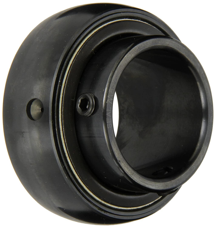 Sealmaster 2-114 Bearing Insert, Standard Duty, Setscrew Locking Collar, Felt Seals, 1-7/8