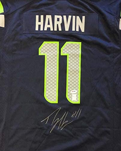 Percy Harvin Signed Jersey - Blue Nike Size XL ITP Stock #58001 - PSA/DNA Certified - Autographed NFL Jerseys