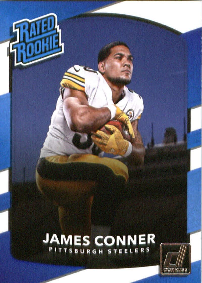 2017 Donruss #322 James Conner Pittsburgh Steelers Rated Rookie Football Card