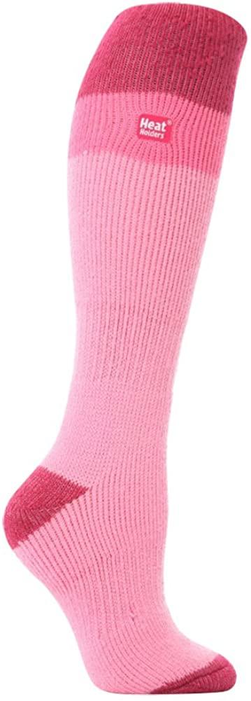 Heat Holders women's No1 Thermal Socks Long Ski light pink/rasberry 5-9 Us