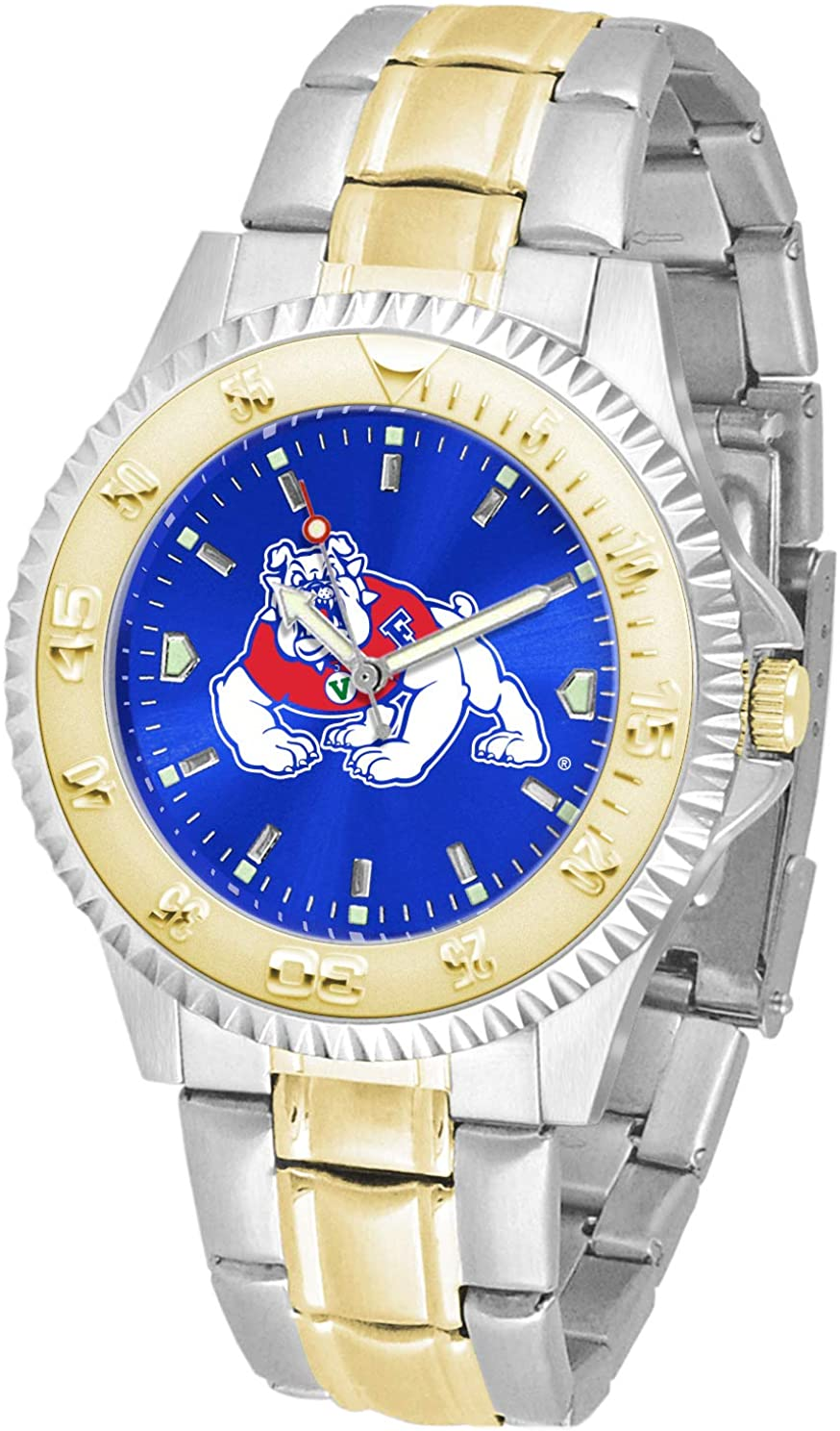 SunTime Fresno State Bulldogs Competitor AnoChrome Two Tone Watch