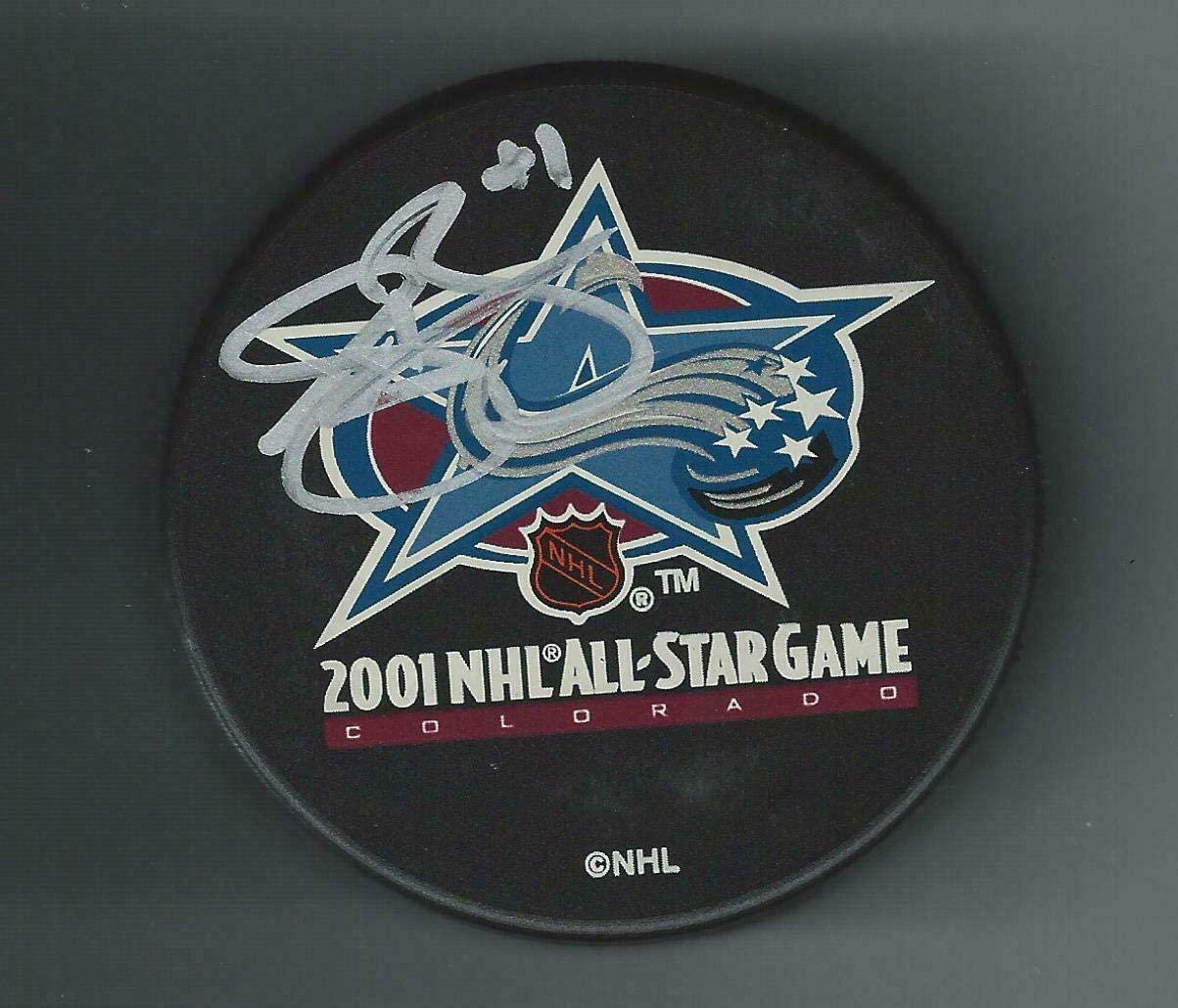 Autographed Sean Burke Puck - 2001 NHL All Star Phoenix - Autographed NHL Pucks