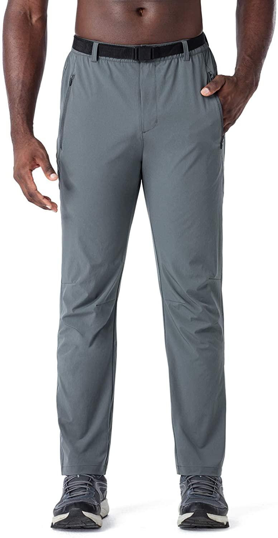 Naviskin Men's Hiking Pants UPF 50+ Outdoor Climbing Camping Pants Water Repellent Tactical Pants with Belt