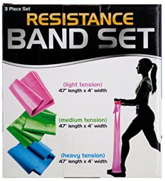 bulk buys Resistance Band Set with 3 Tension Levels - Pack of 4