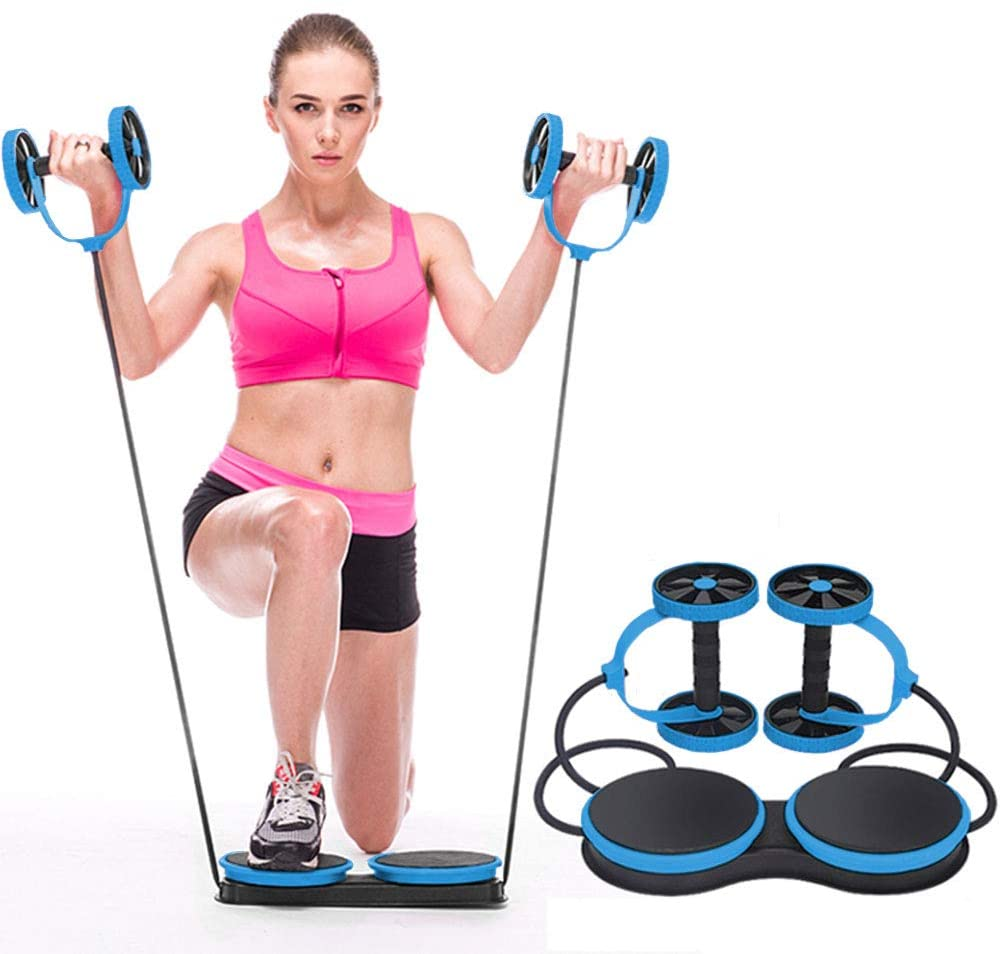 KAZOLEN Ab Roller Multifunctional 5-in-1 Home Workout Equipment for Home Workouts Perfect Home Gym Equipment for Women Men Abdominal Exercise, Fitness Trainer Ab Wheel Roller for Core Workout