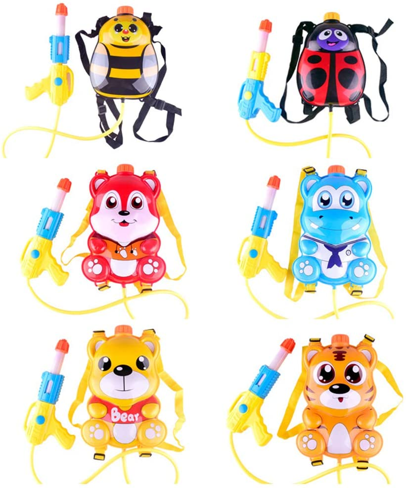 Maserfaliw Outdoor Toys, Water Gun,Funny Pulling Type Cartoon Animal Beach Water Gun Outdoor Kids Playing Toys - Random Style
