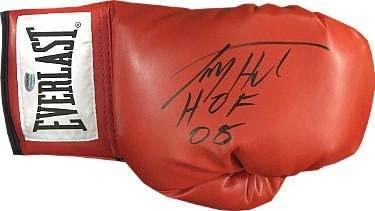 Larry Holmes signed Everlast Left Red Boxing Glove HOF 08 - Autographed Boxing Gloves