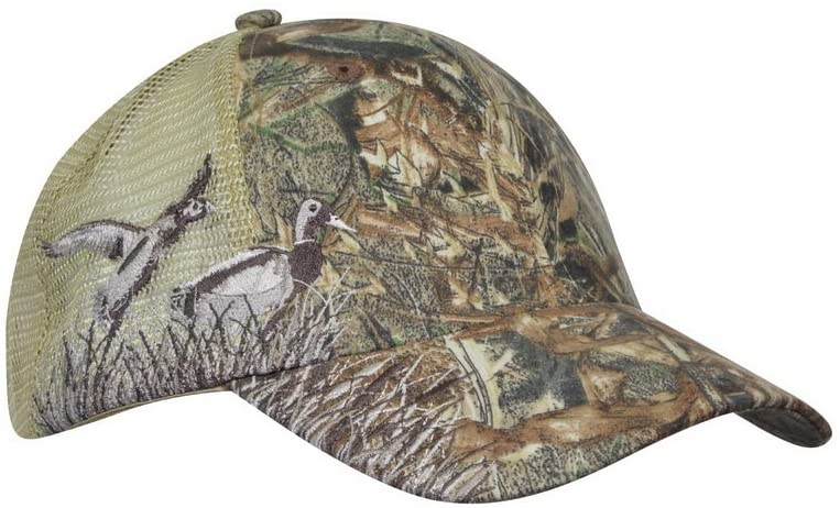KC Caps Realtree Hardwood Pattern Mesh Baseball Cap Outdoor Sports Embroidery Buck Deer/Duck/Break Up Hunting Hat
