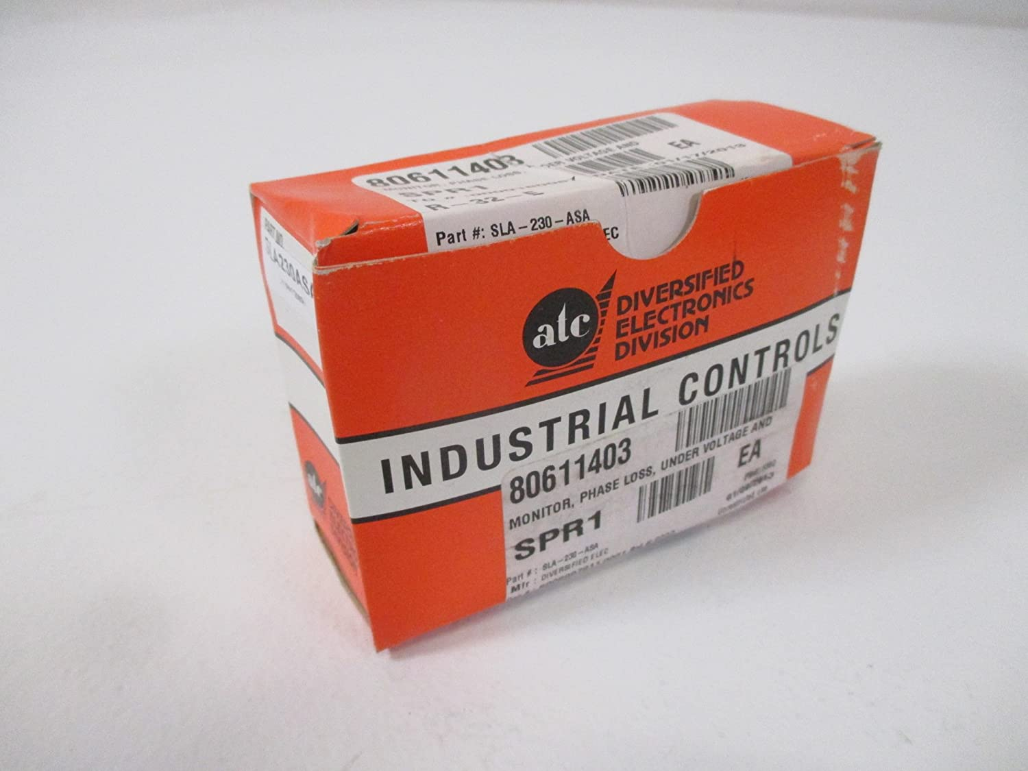 ATC SLA-230-ASA Monitor/Relay, 190-270 Adjustable Operating Voltage, Screwdriver Adjusted, Octal Plug-in, Dust Cover
