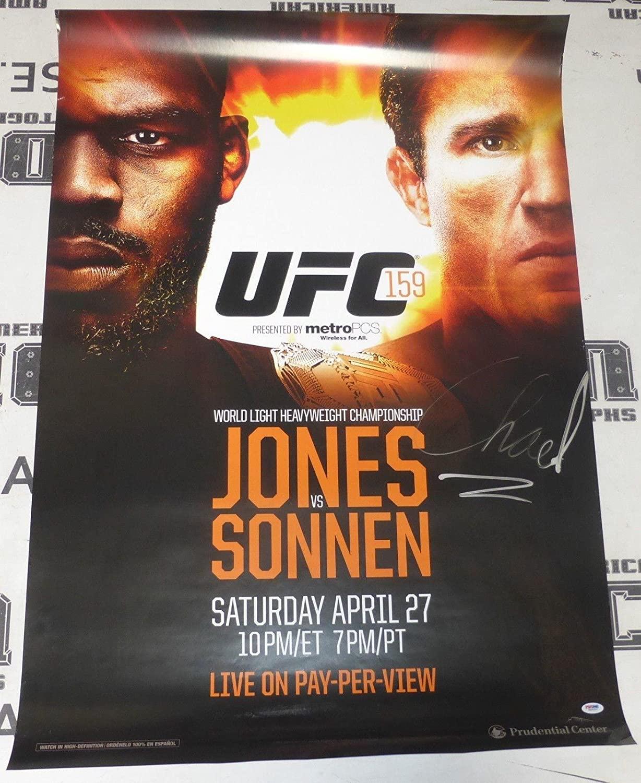 Chael Sonnen Signed Official UFC 159 Poster COA vs Jon Jones Autograph - PSA/DNA Certified - Autographed UFC Event Poster