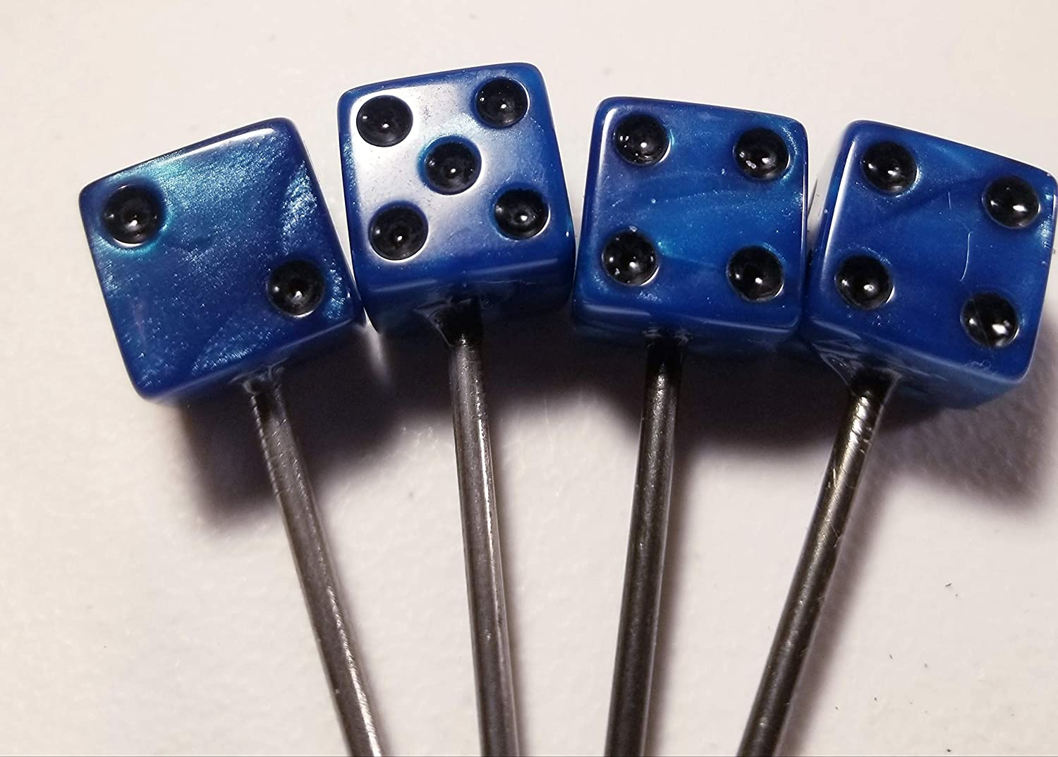 Lucky Draw Archery Marble Blue Dice Target Pins