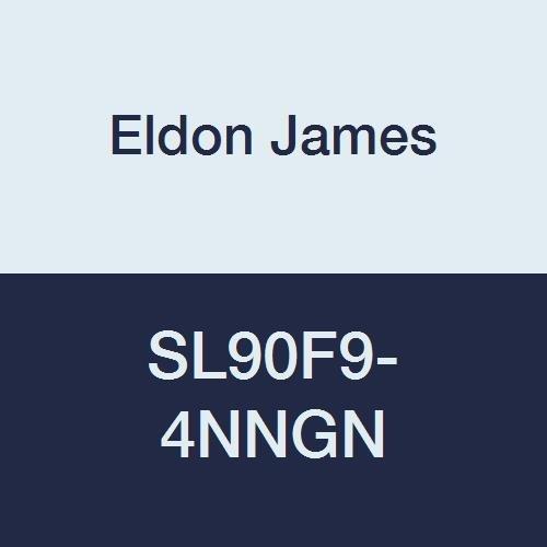 Eldon James SL90F9-4NNGN Natural Nylon 90 Degree Female Elbow Fitting, 9/16-18 UNF Thread, 1/4