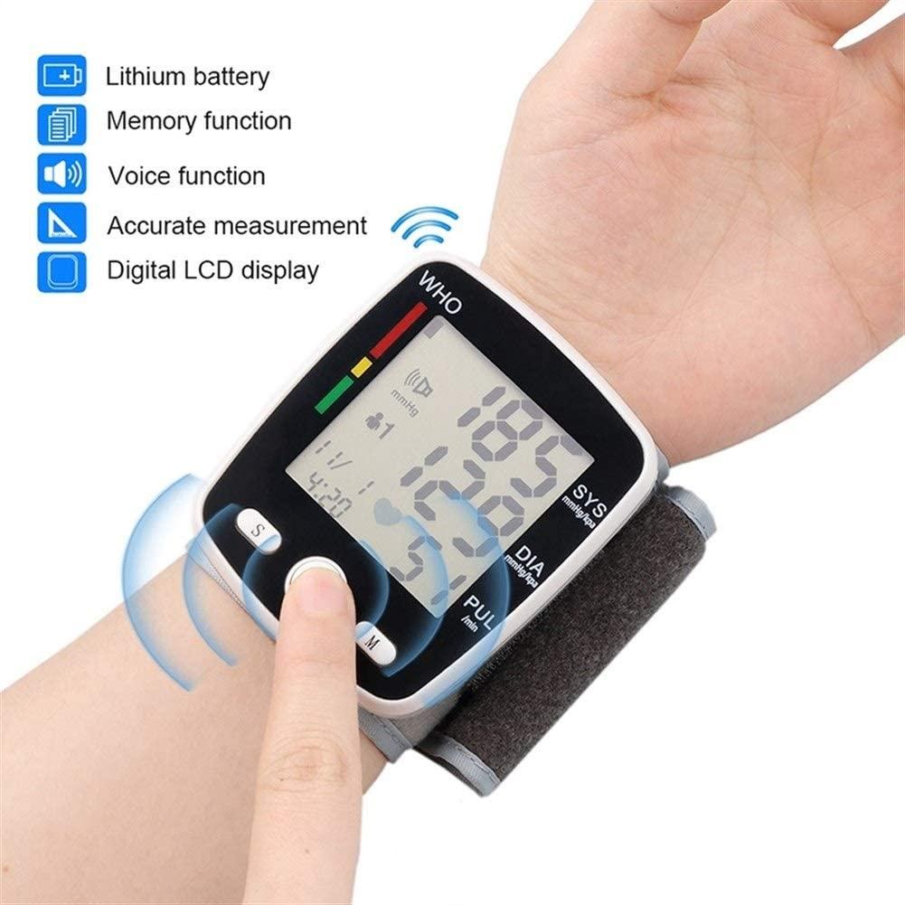 AODXI Wrist Digital Blood Pressure Monitor Automatic Sphygmomanometer Smart Medical Machine Measure Pulse Rate Fitness Measurement