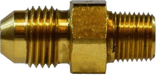 Midland 28-706 Brass JIC 37 Degree Flare Straight Adapter, 3/8