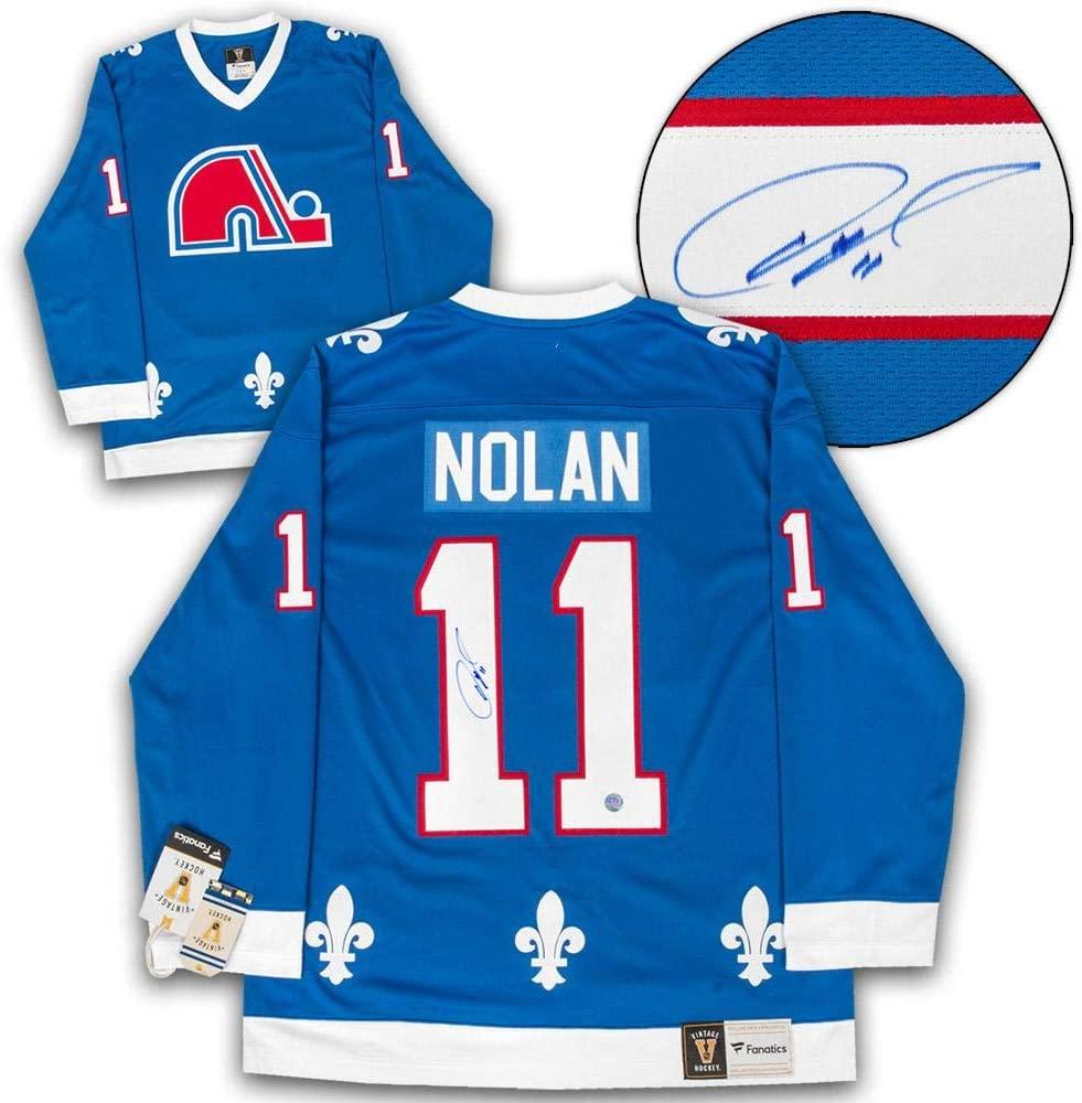 Owen Nolan Signed Jersey - Fanatics Vintage - Autographed NHL Jerseys