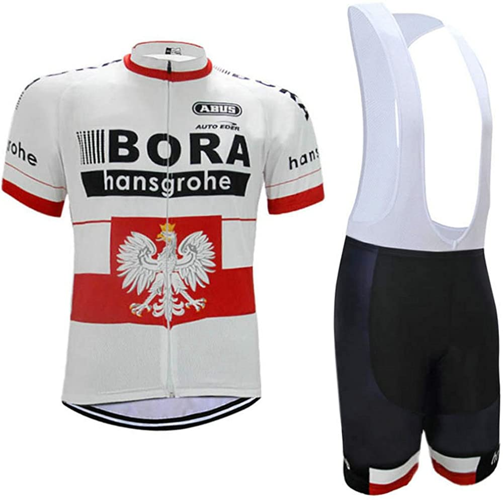 Men's Cycling Jersey Set Bike Jersey Bicycle Summer Breathability Short Sleeve Suit C55