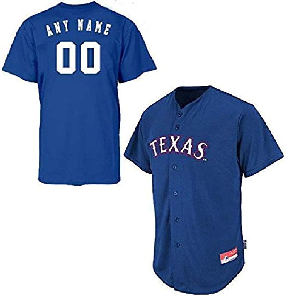 Majestic Athletic Custom Youth Medium Texas Rangers Full-Button
