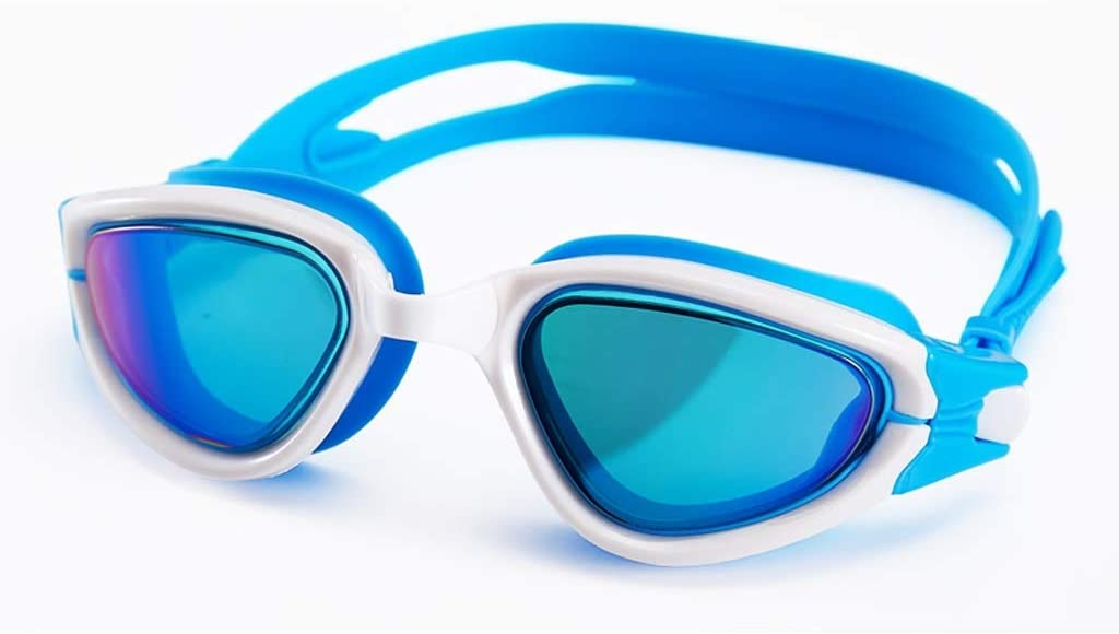 AduYan HD Waterproof Anti-Fog Unisex Large Frame Plating Swimming Goggles