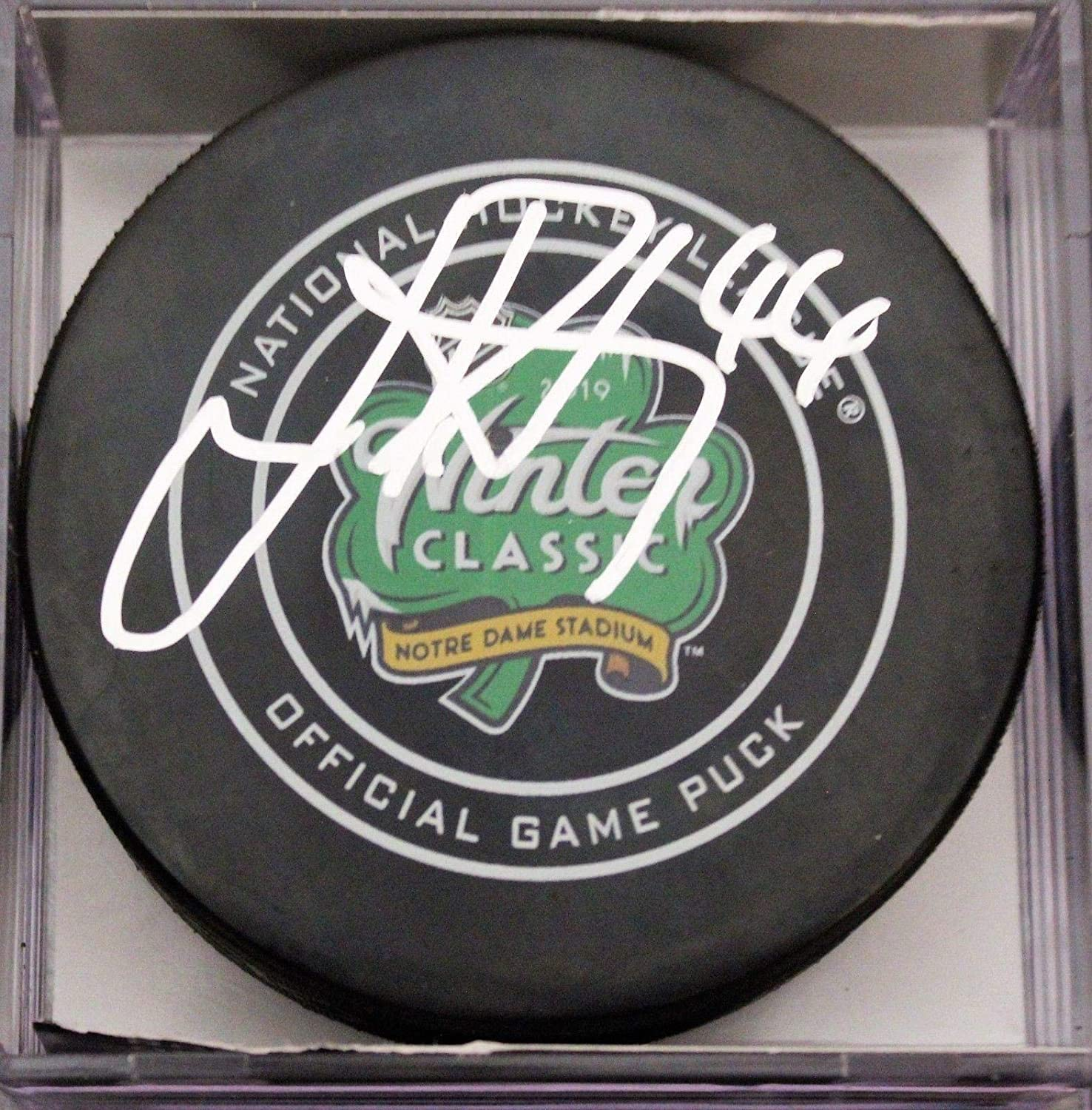 Jan Rutta Autographed Hockey Puck - 2019 Winter Classic Official w COA - Autographed NHL Pucks