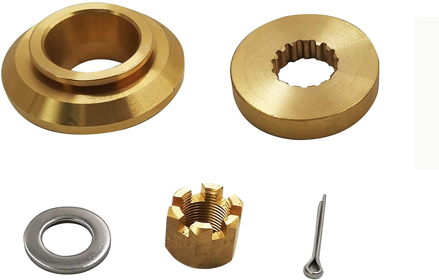 Jason Marine Propeller Installation Hardware Kits fit Yamaha Outboard150-300HP, Thrust Washer/Spacer/Washer/Nut/Cotter Pin, Ref No.6E5-45987-01