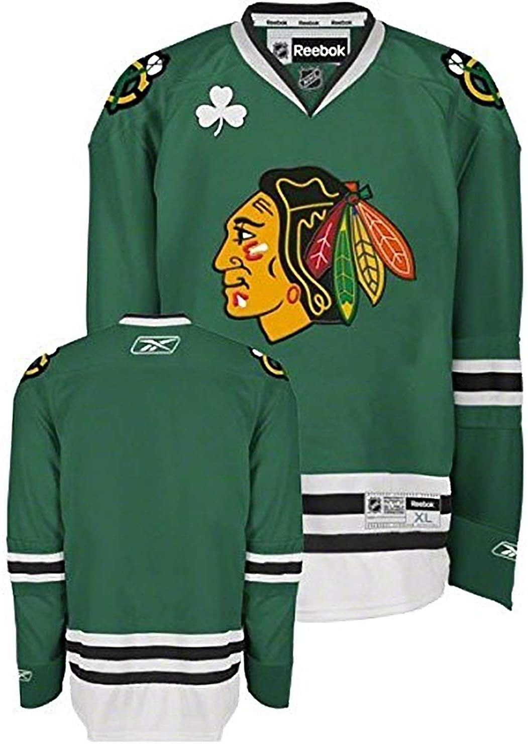 Reebok Chicago Blackhawks Green St. Patrick's Day Youth Premier Jersey