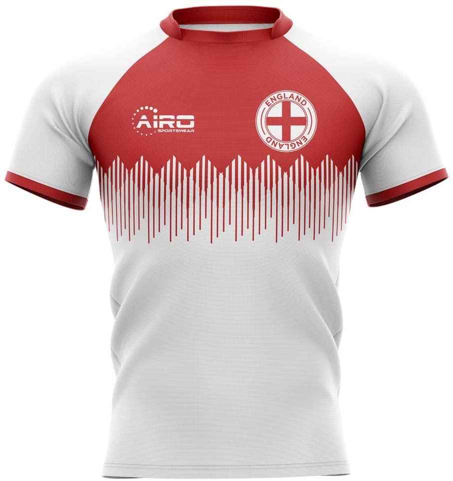 Airosportswear 2019-2020 England Home Concept Rugby Football Soccer T-Shirt Jersey - Kids