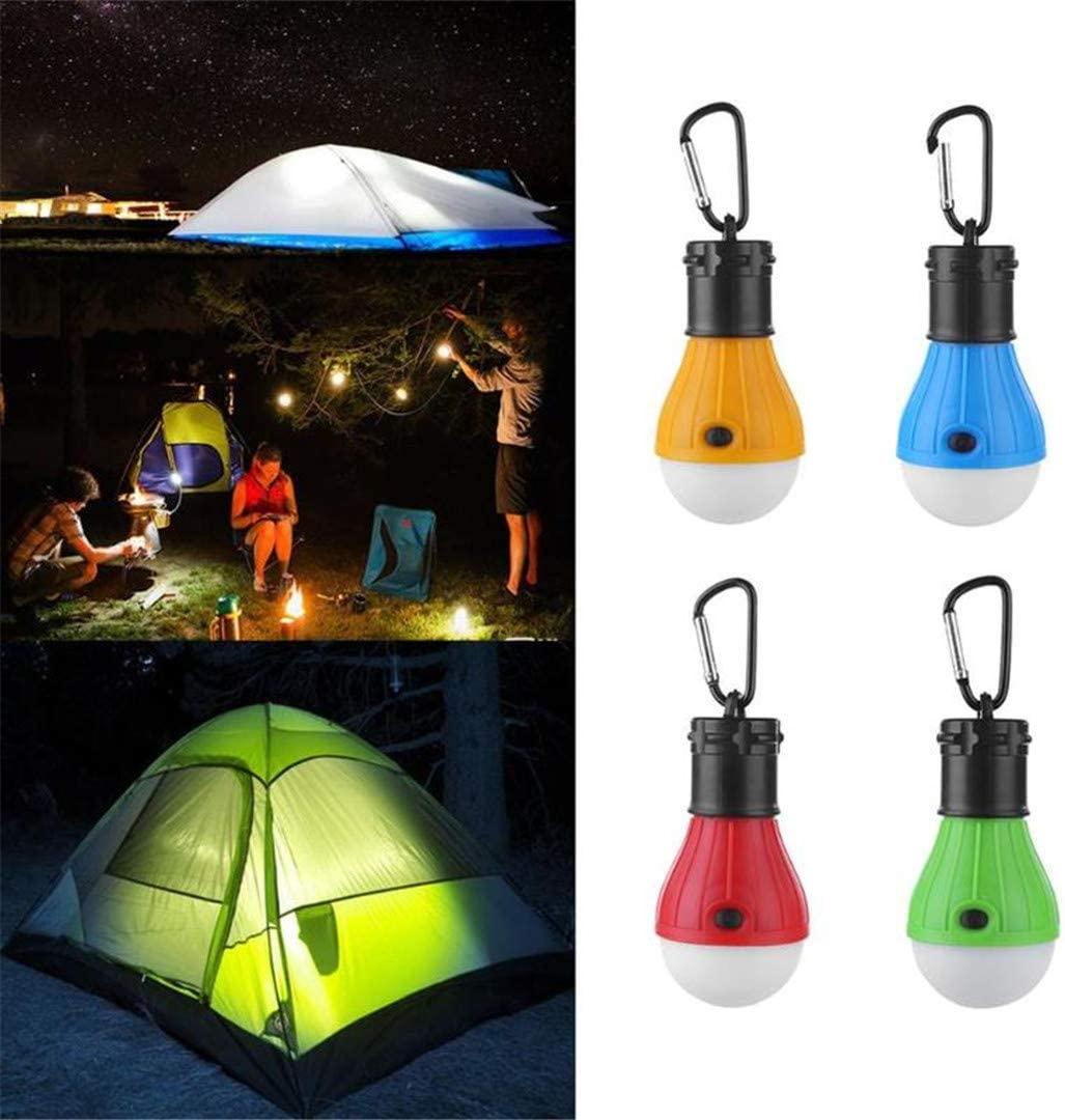 Portable Lantern Tent Light Outdoor Emergency Hanging Hook Flashlight 3 Modes Carabiner Bulb Light 4 Colors Emergency Light
