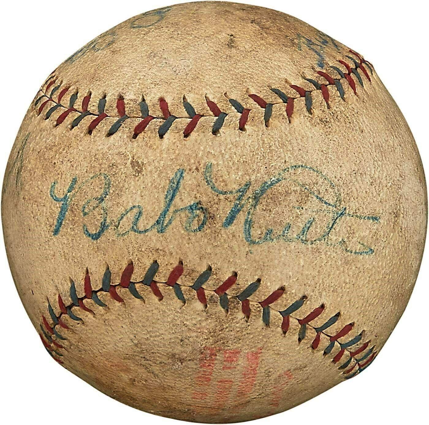 Yankees Babe Ruth & Lou Gehrig Signed 1927 Ban Johnson Oal Baseball #AC02735 - PSA/DNA Certified - Autographed Baseballs