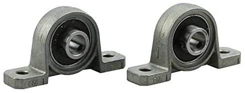 Nologo WYX-TONGBUDAI, 2pcs Diameter 8mm Pillow Block Bearing Zinc Alloy Bore Ball Bearing Pillow Block Mounted Support (Size : 8mm)