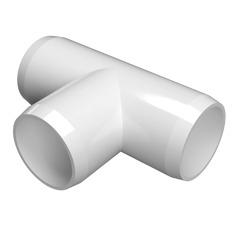 FORMUFIT F114TEE-WH-4 Tee PVC Fitting, Furniture Grade, 1-1/4