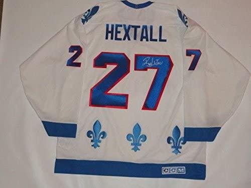 Signed Ron Hextall Jersey - Ccm Vintage #27 Proof Very Rare - JSA Certified - Autographed NHL Jerseys