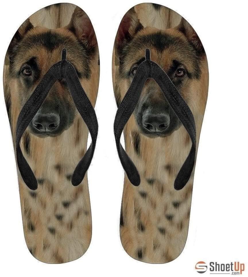 Paws With Attitude German Shepherd Flip Flops for Women