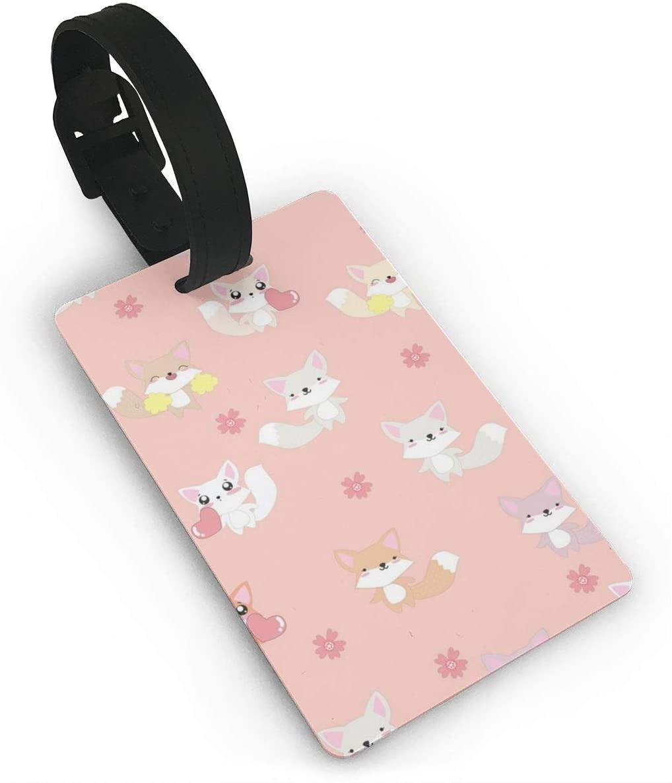 Field Rain Fox Fashion Luggage Tag PVC Travel ID Suitcases Label For Bag