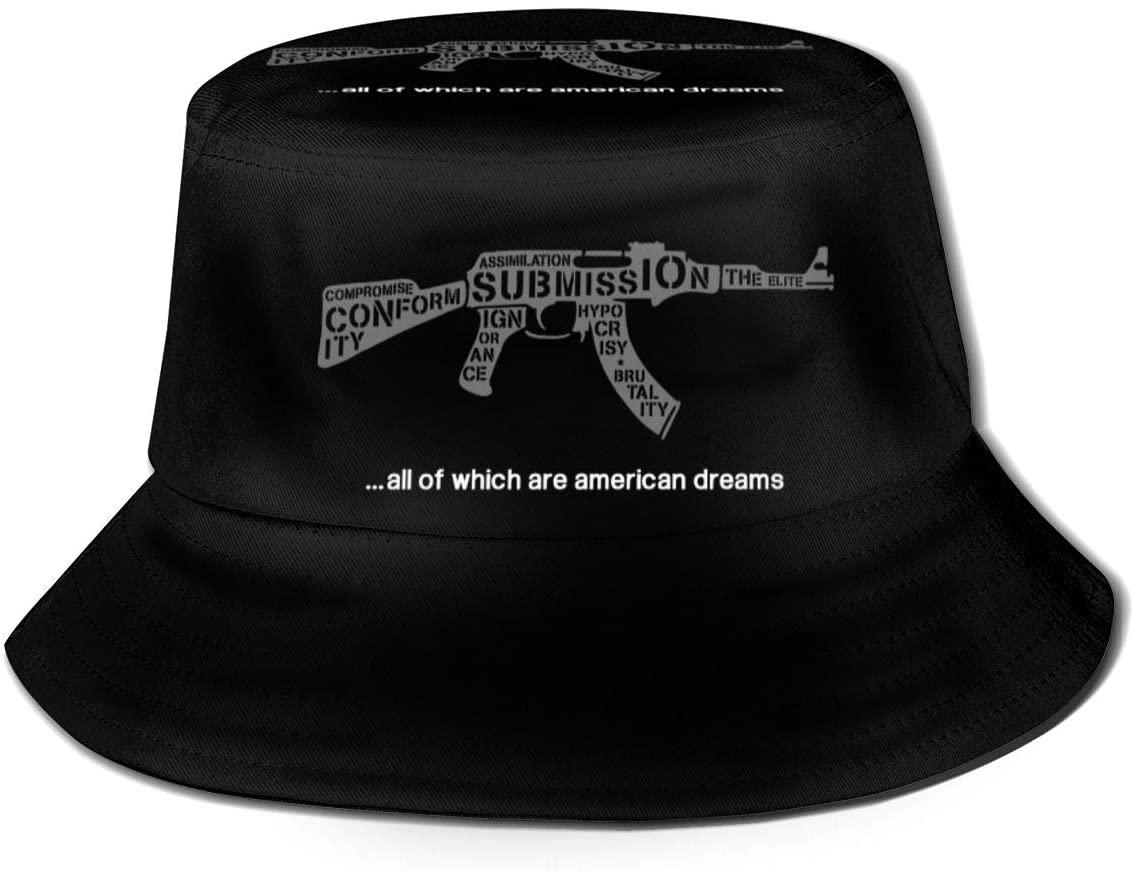 1763 Unisex Know Your Enemy- Rage Against The Machine Trump RATM Print Double-Side-Wear Reversible Bucket Hat