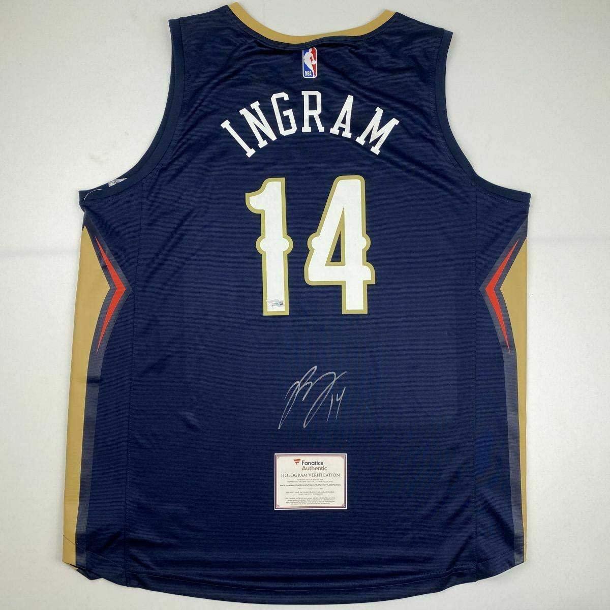 Autographed Brandon Ingram Jersey - Blue Fanatics COA - Fanatics Authentic Certified - Autographed NBA Jerseys