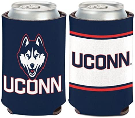 WinCraft NCAA University Connecticut UConn Huskies 1 Pack 12 oz. 2-Sided Can Cooler