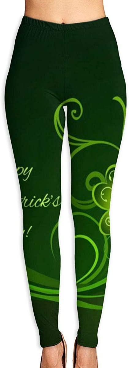 AUISS Lady Yoga Pants Leggings Happy St Patricks Day Running Workout Power Stretch Long Trousers Athletic Gym
