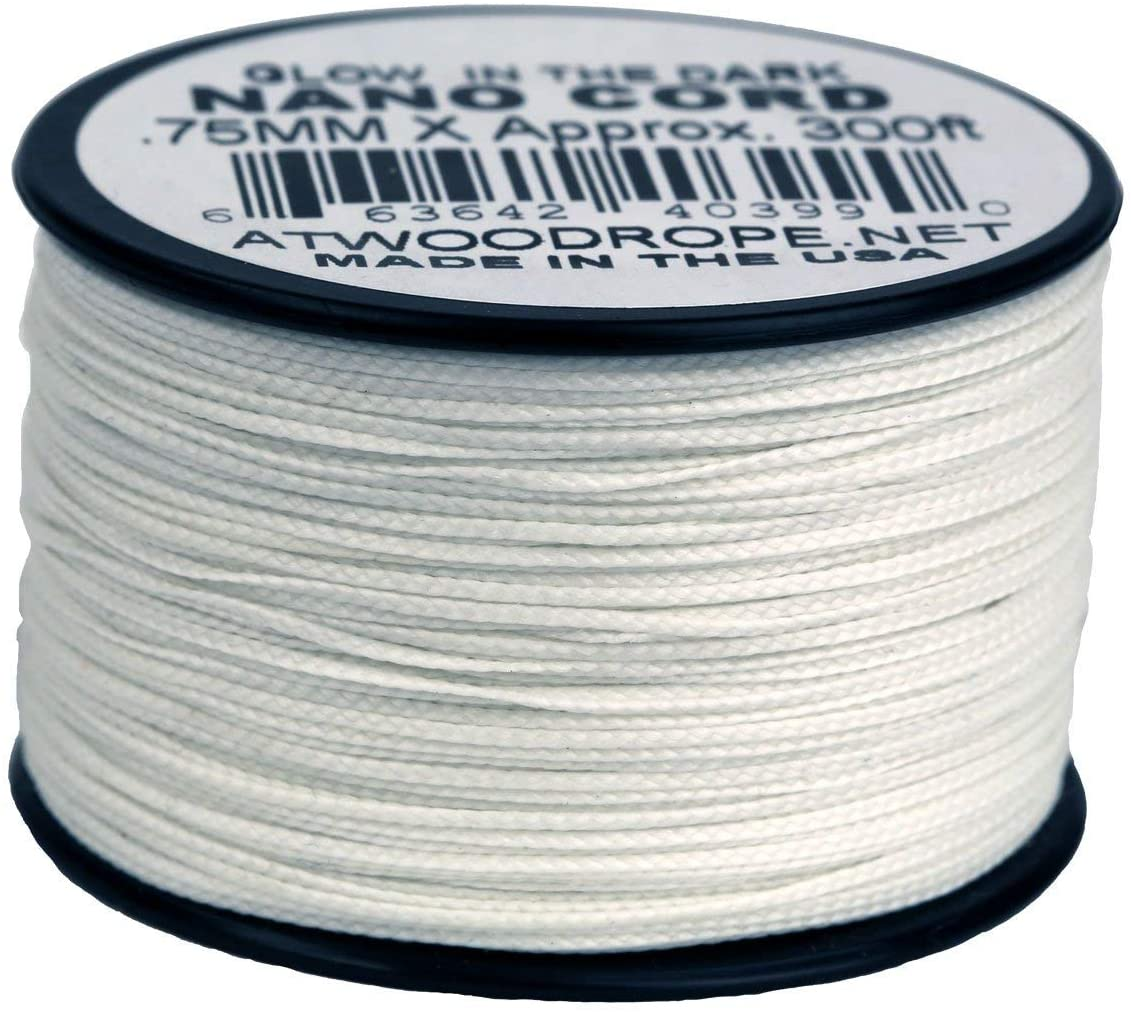 Atwood Rope MFG Glow-in-the-Dark NC300 .75mm x 300' Nano Cord Made in the USA