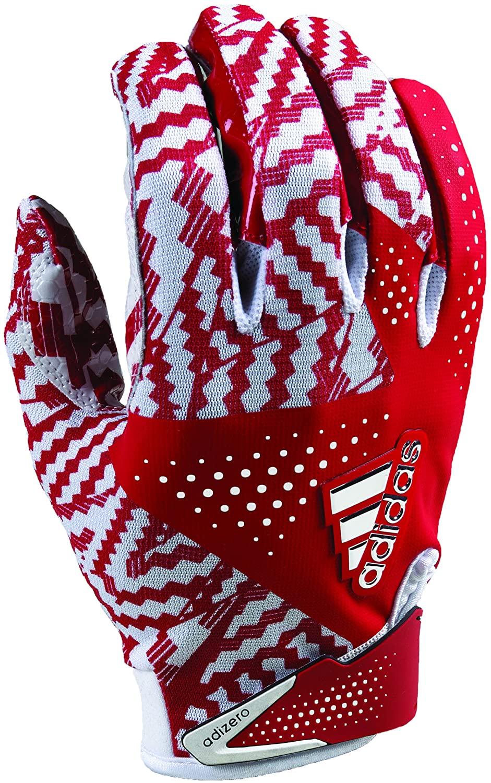 adidas Adizero 5.0 Football Gloves 4X-Large White/Red