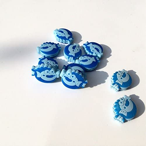 Abcyee Silicone Blue Fish Tennis Vibration Dampeners Pack of 10