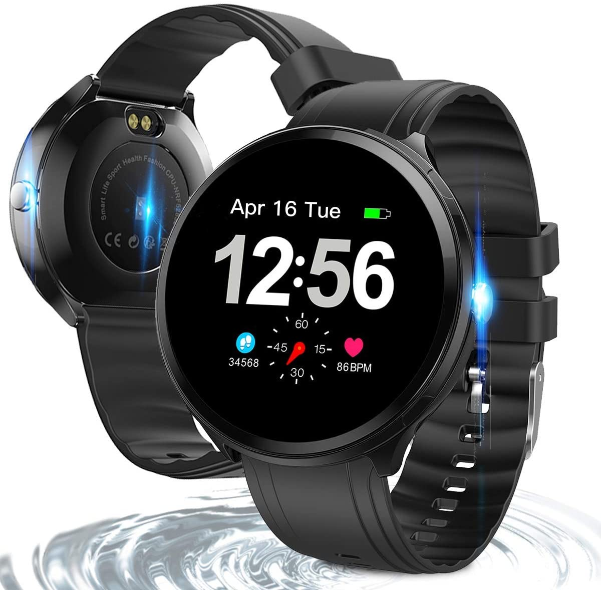 Fitness Tracker, Activity Tracker Fitness Watch with Heart Rate Monitor, IP67 Waterproof Smart Watch with Sleep Monitor, Pedometer,Music Control