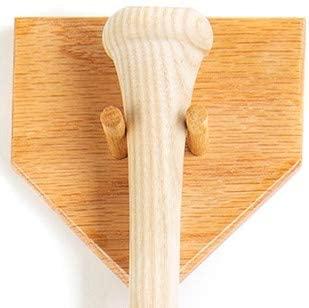 Stanley's Baseball Bat Display Vertical Handmade in USA Solid Oak