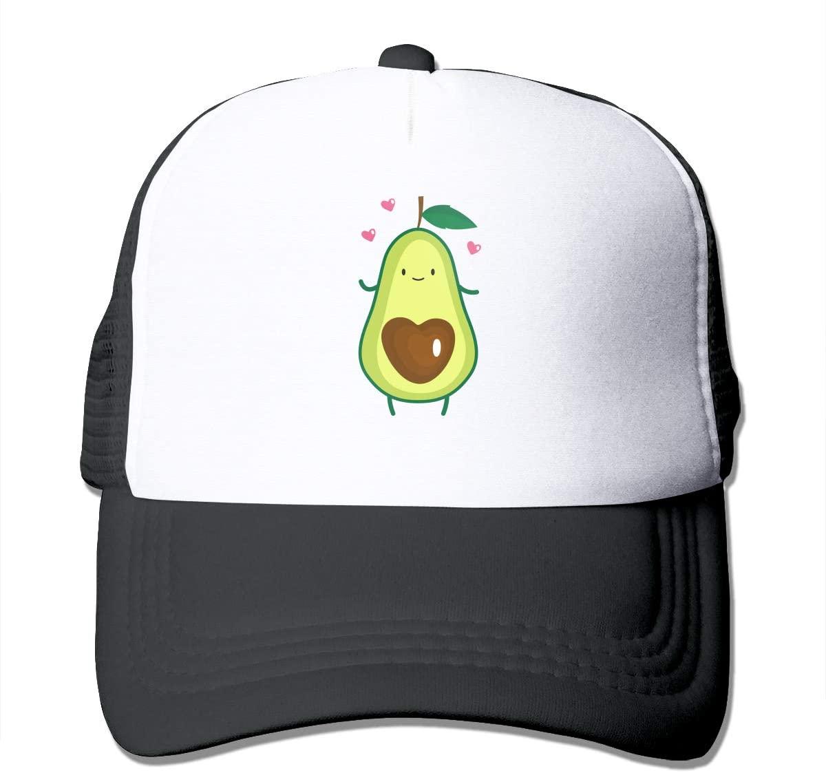 Adult Trucker Hat Avocado Heart Custom Mesh Caps
