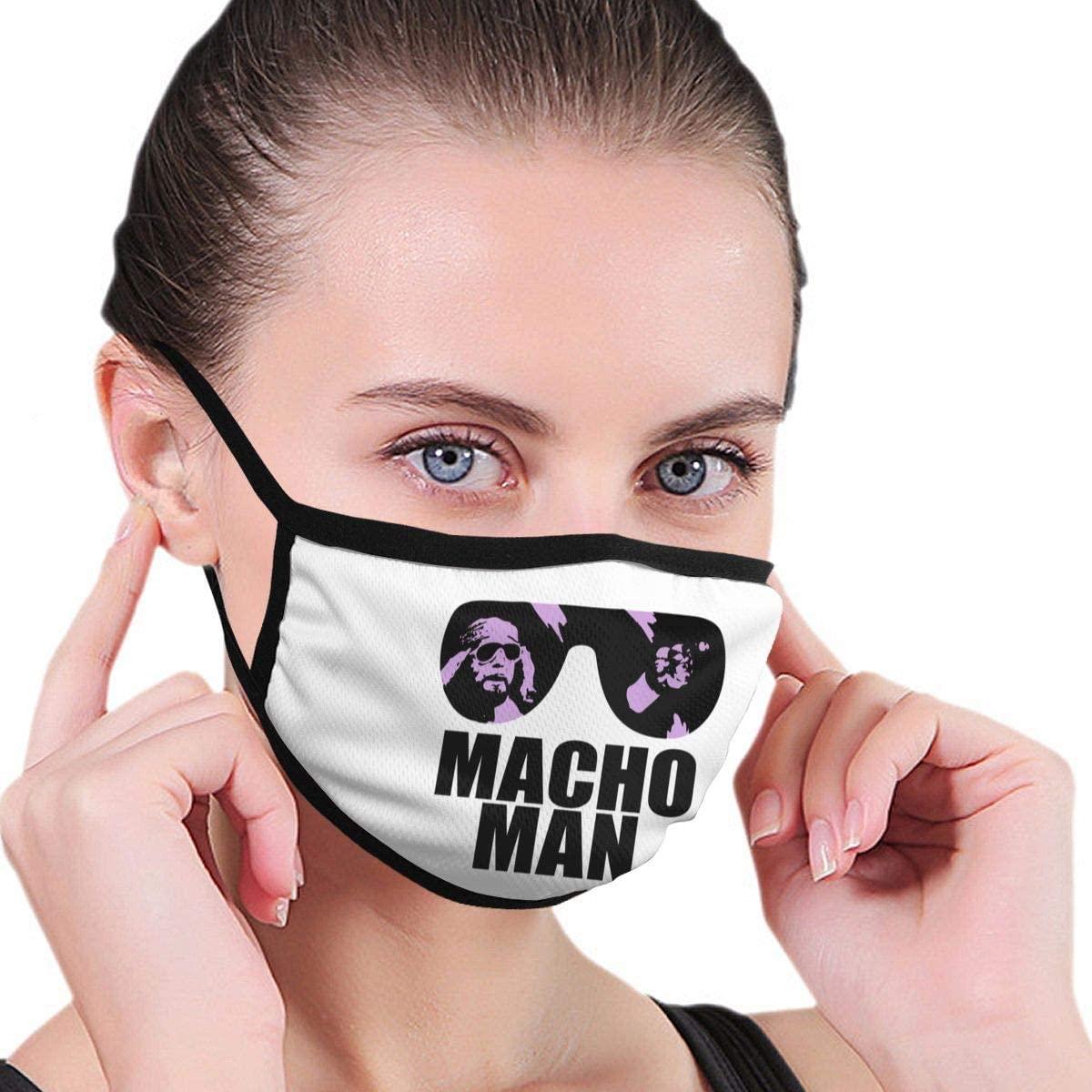 Qwtykeertyi Macho Man Fashion Protective Reusable Unisex Black Cotton Washable Balaclava