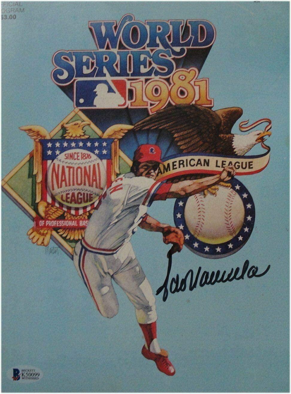 Fernando Valenzuela Signed Auto Los Angeles Dodgers 1981 WS Program Beckett - Beckett Authentication