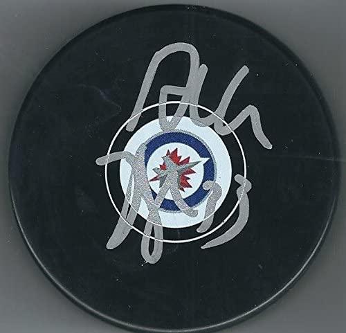 Autographed Dustin Byfuglien Winnipeg Jets Hockey Puck