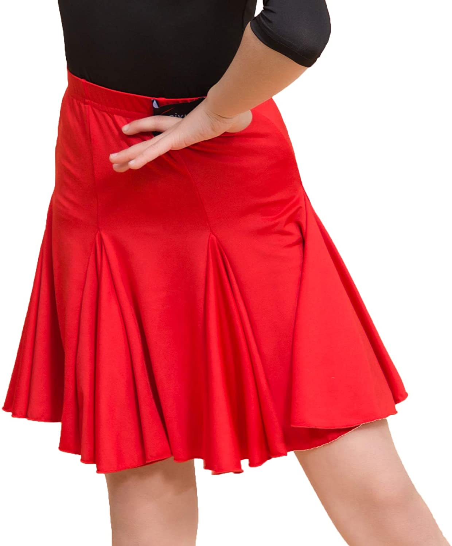 SCGGINTTANZ SY2005 Kid Latin Ballroom Dance Professional Multi chip and Swing Design Skirt for Girl